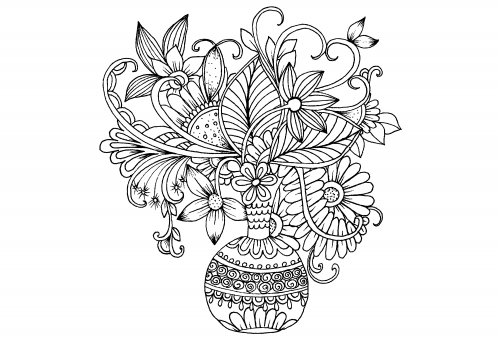 Advanced Flower Coloring Pages 5 Free Flower Coloring Pages