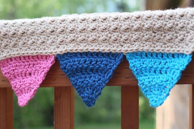 Free crochet bunting blanket pattern   Crochet Patterns   Pinterest ...