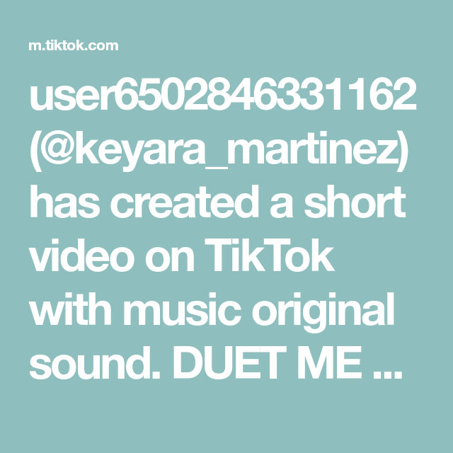 User6502846331162 Keyara Martinez Has Created A Short Video On Tiktok With Music Original Sound Duet Me And Try This H How To Make Bows Music Mighty To Save