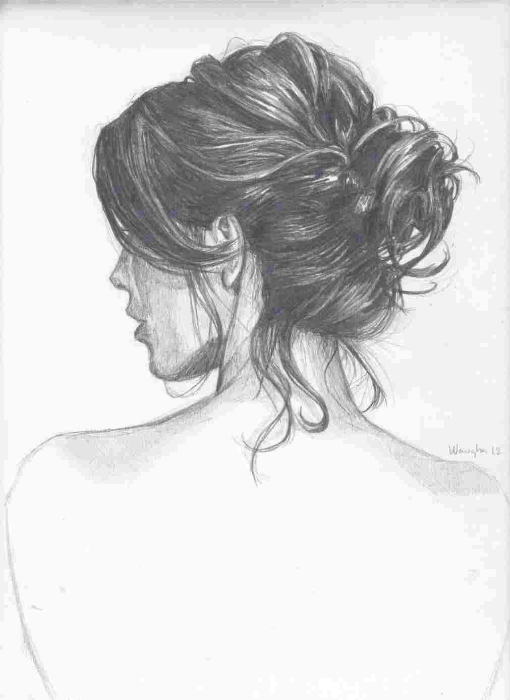 How To Draw Anime Hair Bun Anime Hairstyles Drawing Beautiful How To Anime Beautiful Bun How To Draw Hair Art Art Drawings