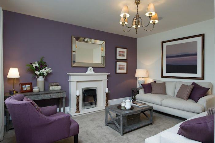 ... 1001 + Ideen Und Bilder Zum Thema Aubergine Farbe Pinterest   Wohnzimmer  Grau Violett ...