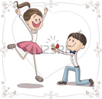 couple de mari s dessin proposition de mariage vecteur de bande dessin e maries pinterest. Black Bedroom Furniture Sets. Home Design Ideas