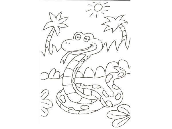 17606-4-dibujo-para-colorear-con-ninos-de-una-serpiente-de-la-selva ...