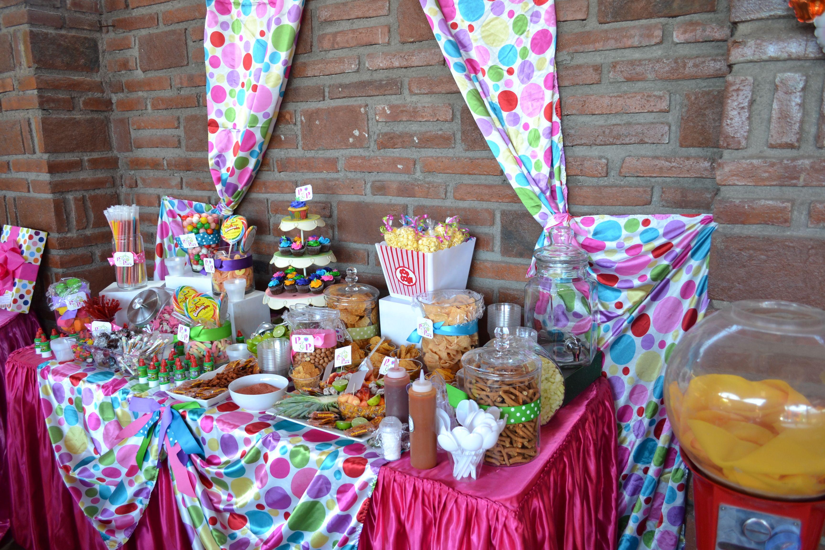 Mesa de snacks y dulces decoraciones pinterest ideas - Decoraciones de mesas ...