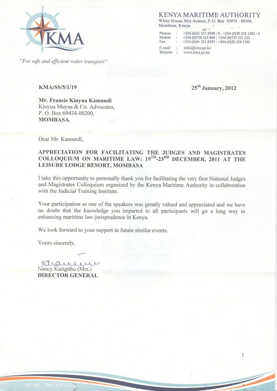 Appreciation Letter Appreciation Letter Appreciation Certificate