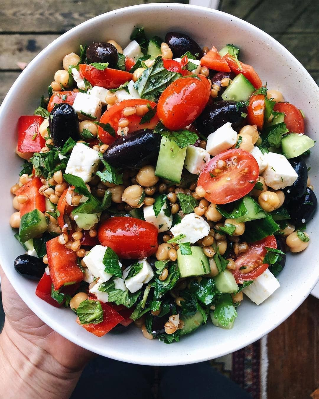 Healthy Vegan Recipes On Instagram Greek Wheat Berry