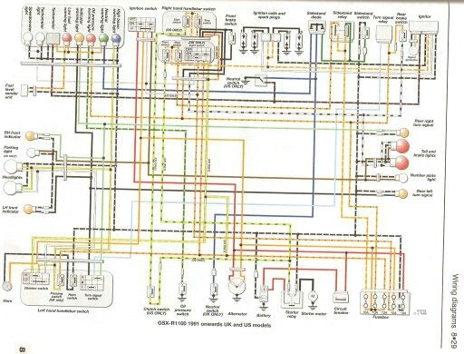Wiring diagram. | Gsxr 750, Gsxr 600, Boat wiring | Wiring Diagram For 1998 Gsxr 600 |  | Pinterest