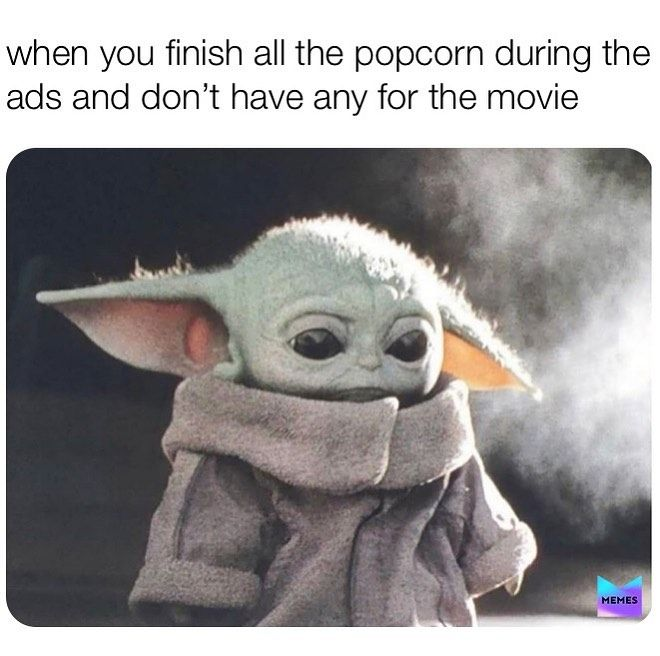 Sheriff Baby Yoda On Instagram Ate All Of It I Did Enjoy Movie In Sadness I Did Yoda Funny Cute Memes Funny Star Wars Memes