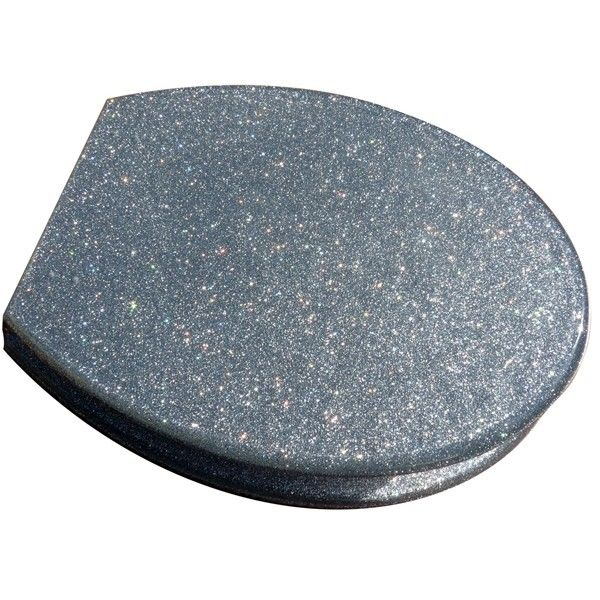 silver glitter toilet seat when i have a house i want a. Black Bedroom Furniture Sets. Home Design Ideas