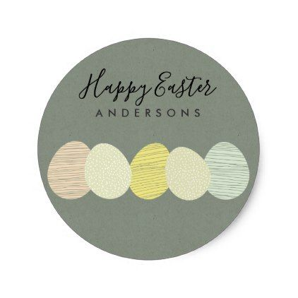 Cute soft subtle pastel easter eggs personalized classic round cute soft subtle pastel easter eggs personalized classic round sticker romantic gifts ideas love beautiful negle Images