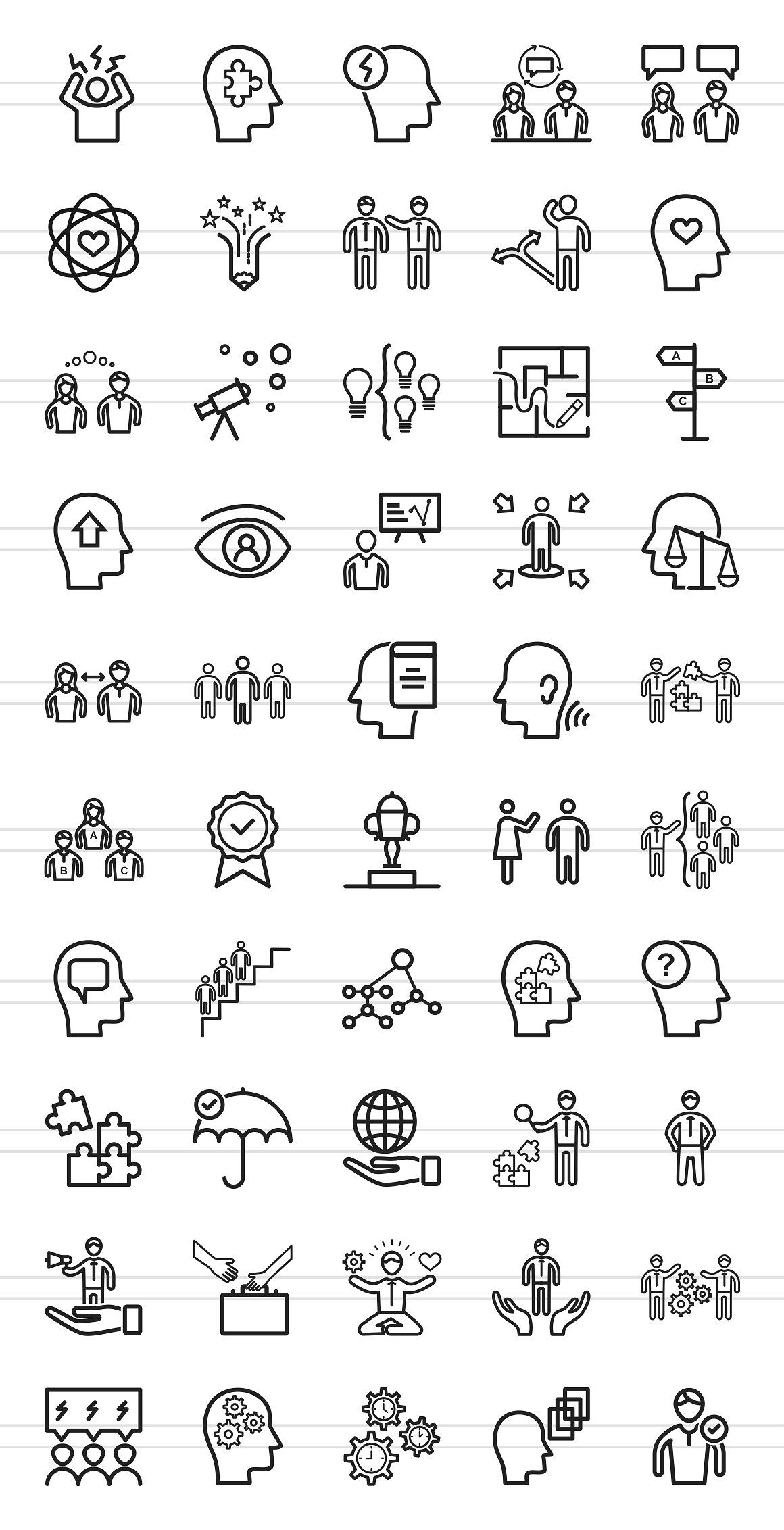 50 Soft Skills Line Icons Soft Skills Selling Skills Line Icon