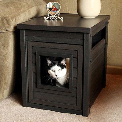 Banheiro de madeira fechado para gatos banheiro de for Mobilia outlet