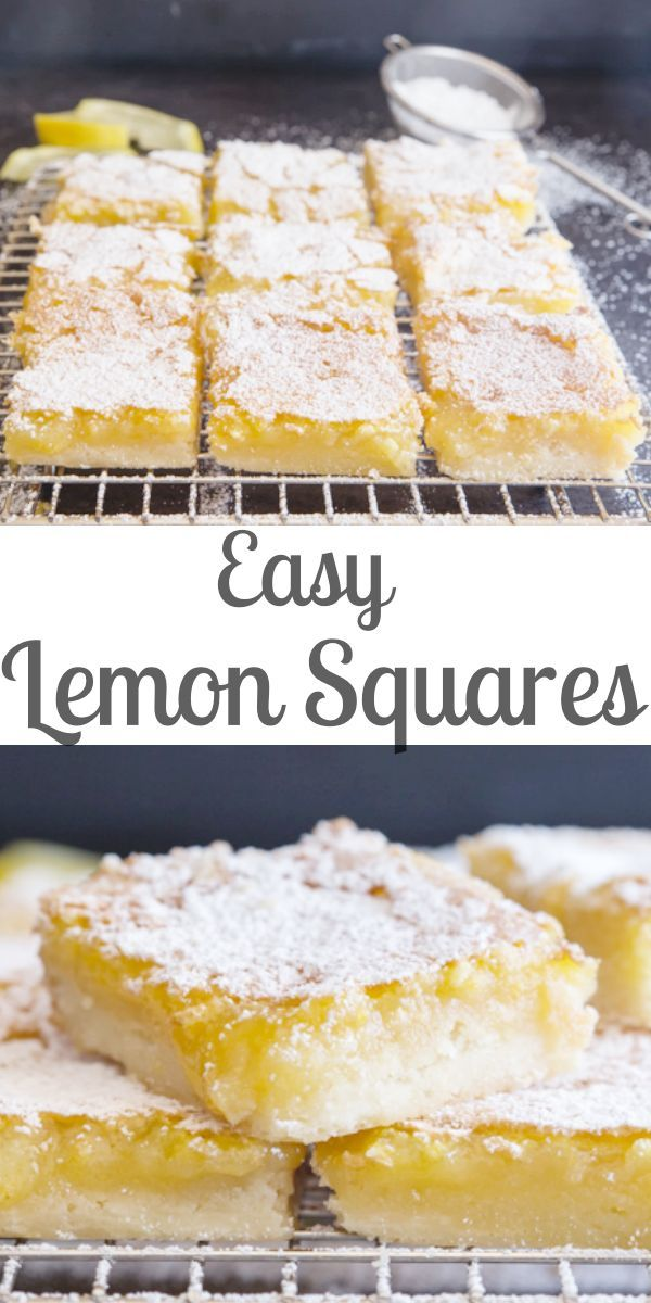 Easy Fresh Lemon Squares - Quick & Easy Tangy Lemon Bars