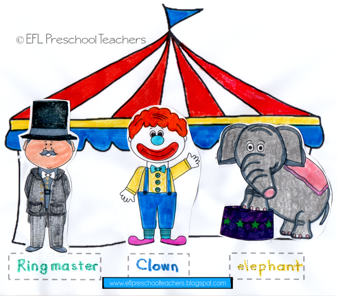 Esl Circus Unit Worksheet 3 The Students Color As You