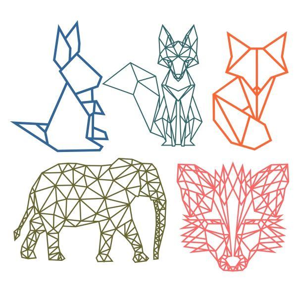 Geometric Animal Cuttable Design Cut File. Vector, Clipart ...