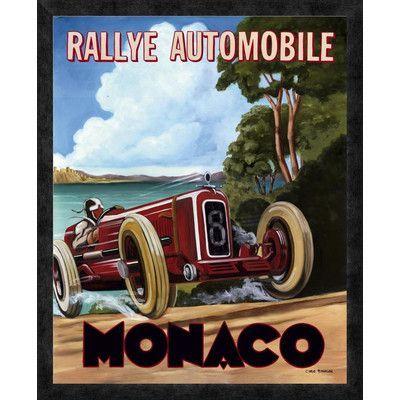 Global Gallery 'Monaco Rallye' by Chris Flanagan Framed Vintage Advertisement Size: