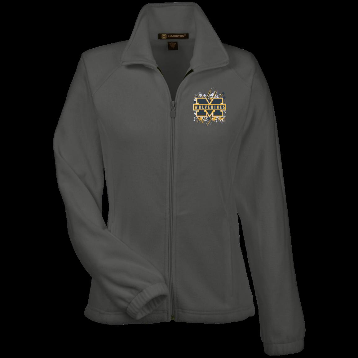 Michigan Wolverines Splatter Logo Womens Fleece Jacket