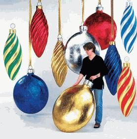 Oversized Christmas Ornaments from Outdora  Oh Christmas Tree