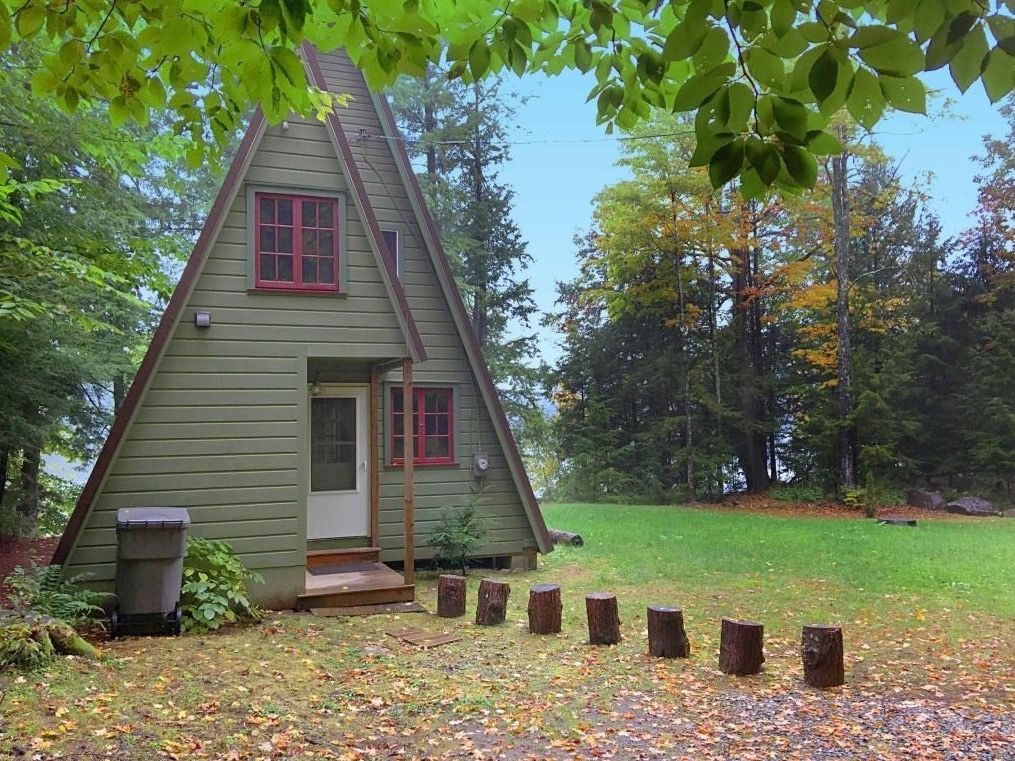 Tiny House Real Estate Tiny Small Homes With Land A Frame Cabin Cabins For Sale Green Siding