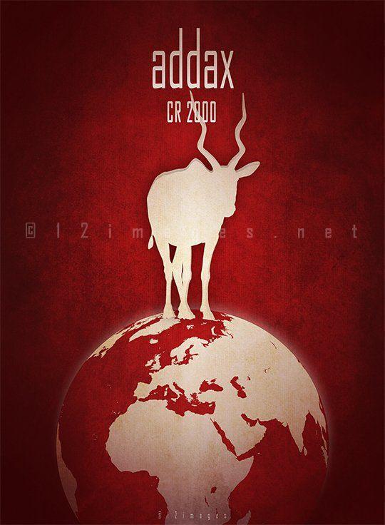 Addax Endangered Animals Extinct And Endangered Animals Endangered