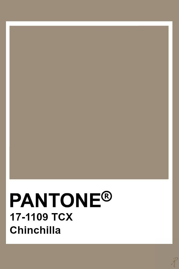 Pantone Chinchilla Pantone Fashion  Home TCX Colors Pantone