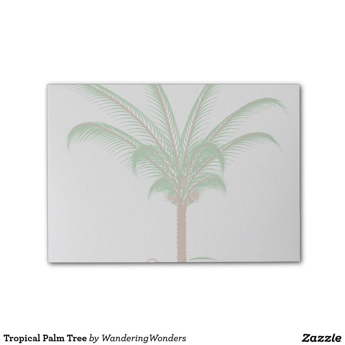 Tropical Palm Tree Post-it® Notes (x2)