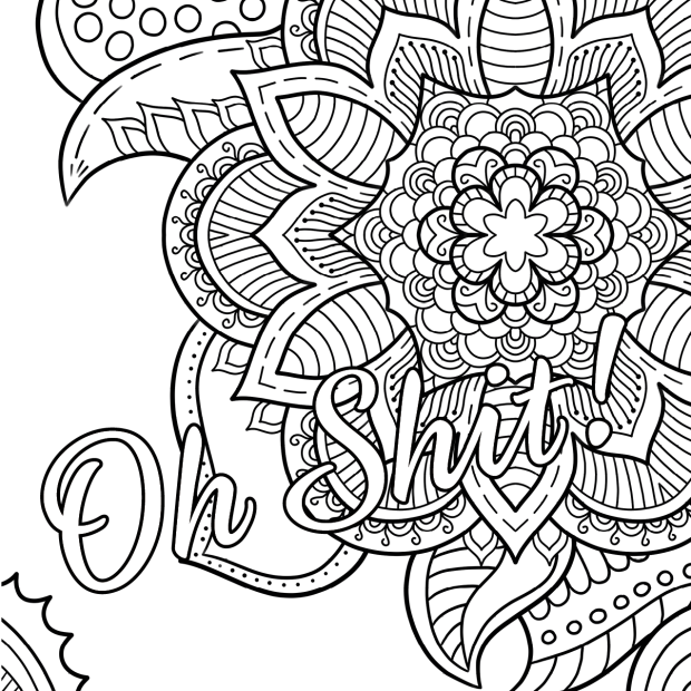 Oh Shit Free Coloring Page Swear Word Coloring Book Thiago
