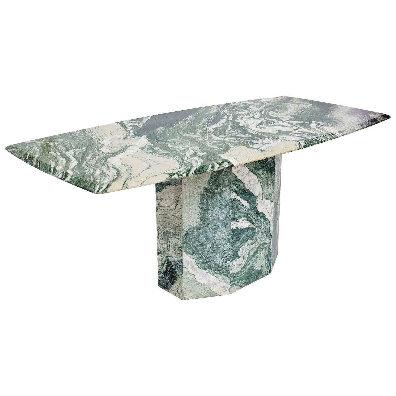 Verde Luana Marble-Top And Base Dining Table