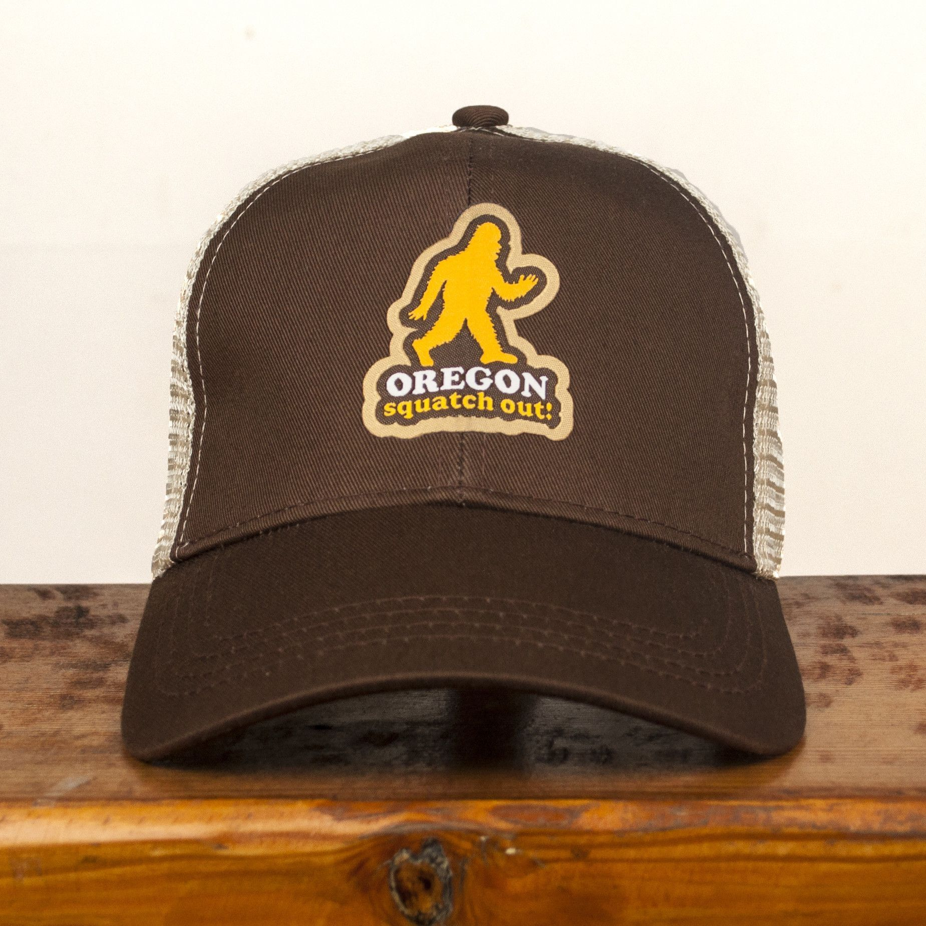 214f6608a3e32e Squatch Out Oregon | Curved Bill Trucker Hat | We make things ...