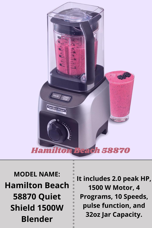 Hamilton Beach 58870 Quiet Shield 1500w Blender In 2021 Blender Blender Reviews Quiet