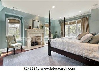 Master bedroom in luxury home interior decorating stock photos available on fotosearch also rh pinterest