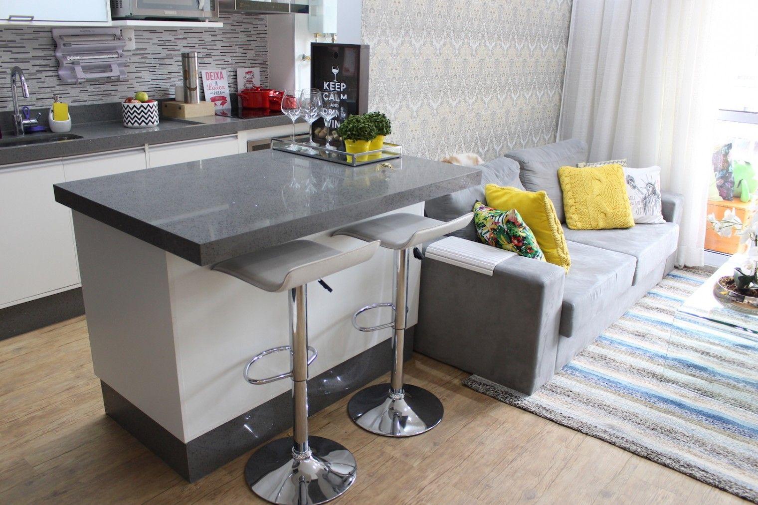 Tour Pelo Ap Secrets Cozinha Cozinha Americana E Salas -> Acabamento De Sala E Cozinha