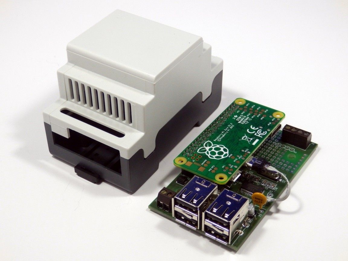 din rail enclosure for Raspberry Pi Zero | RasPiBox Zero for ...