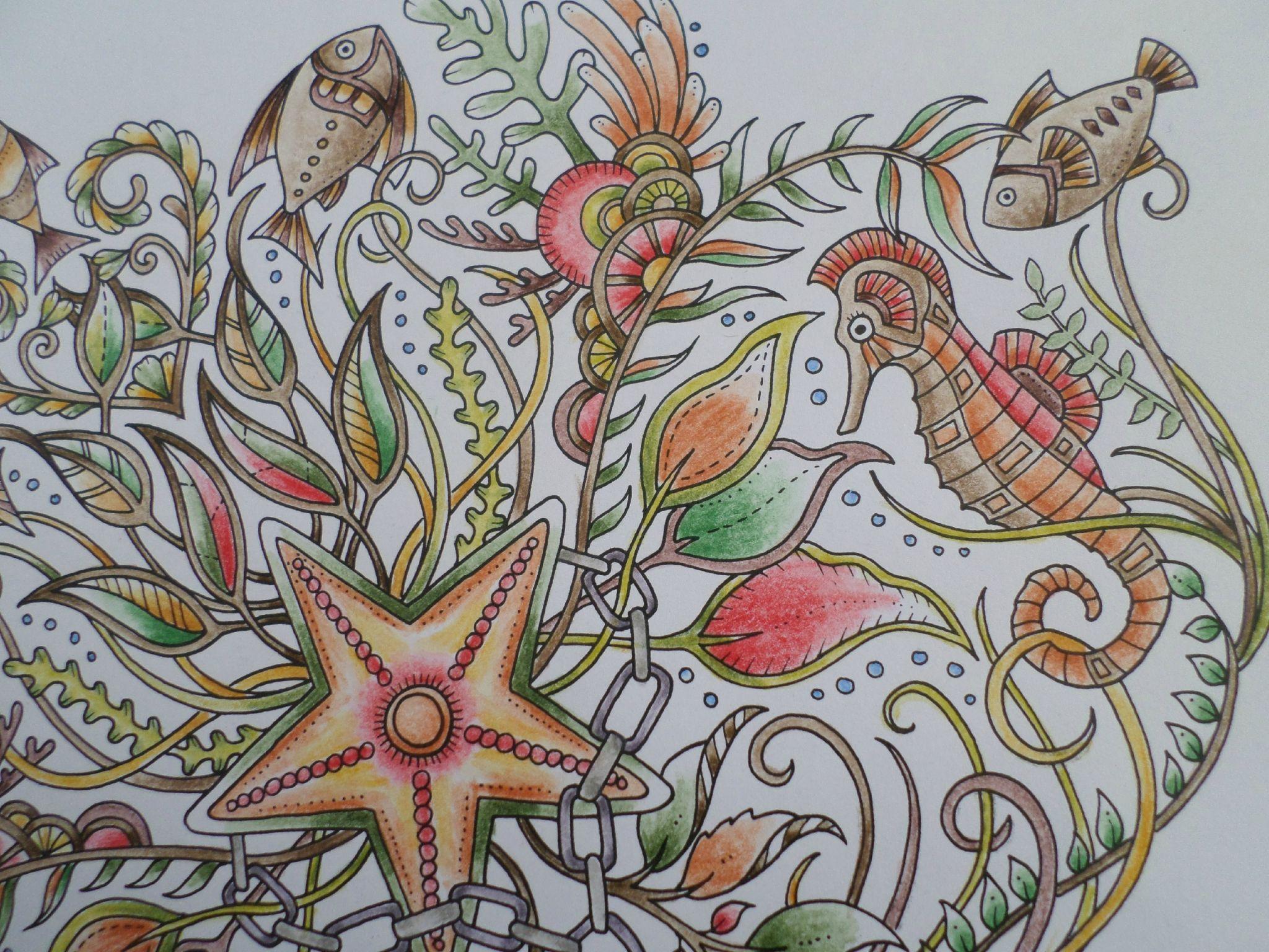 Coloriage livre Ocean Perdu Johanna Basford par steffy Elsass crea
