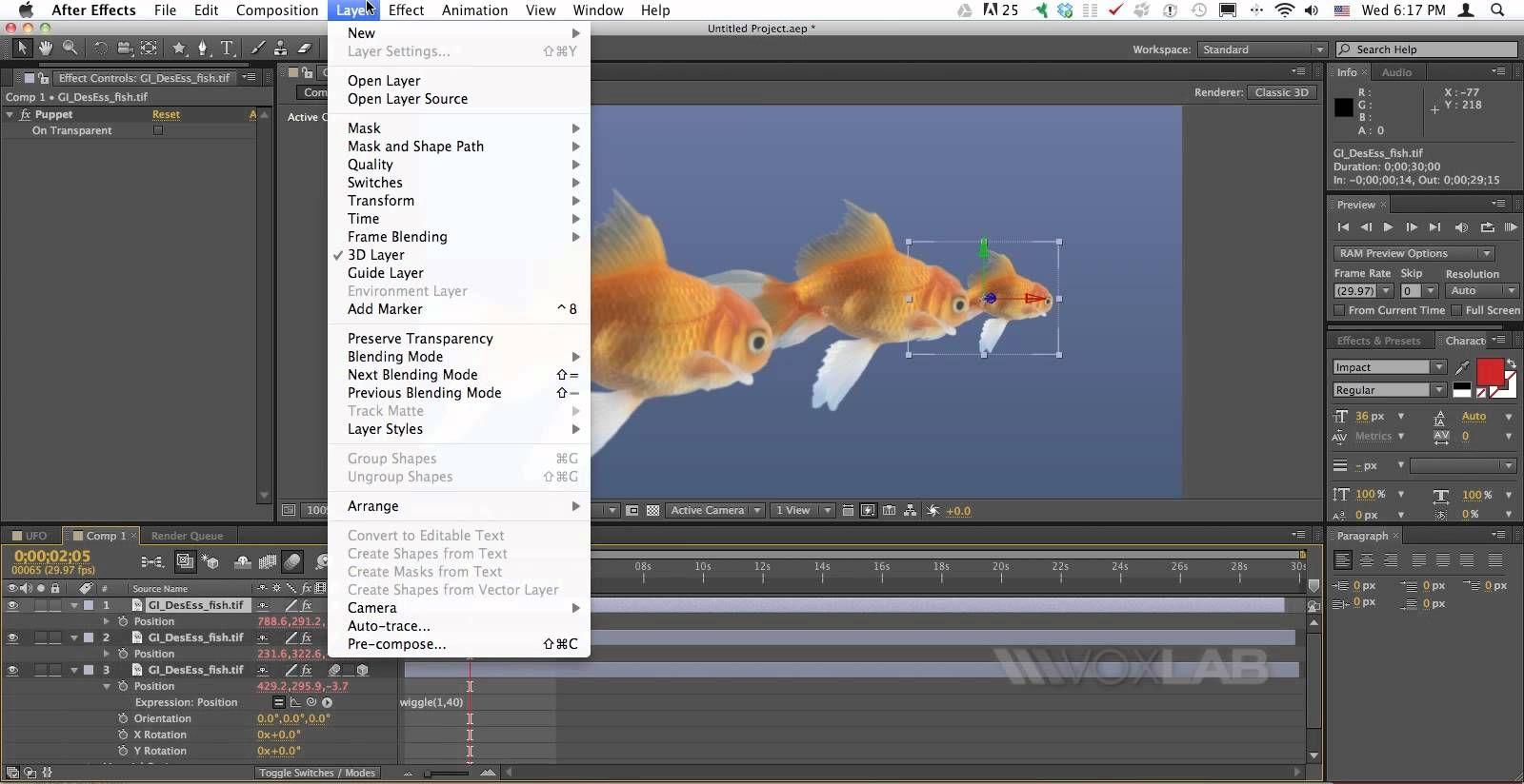 Adobe After Effects Cs6 3d Camera Depth Of Field Tutorial By Voxlab Adobe After Effects Cs6 After Effects Depth Of Field