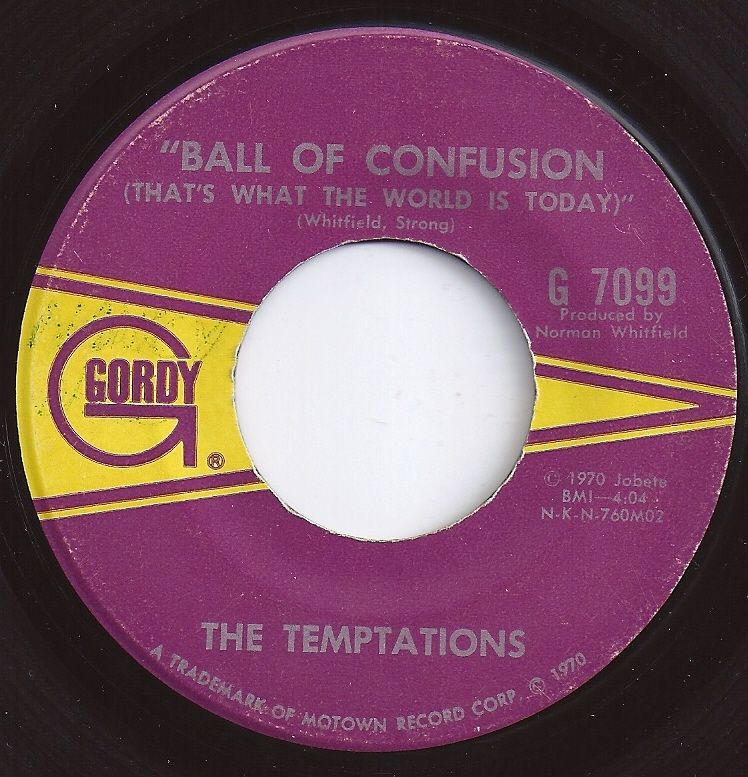 Ball Of Confusion Temptations 3 On Billboard 1970 Music