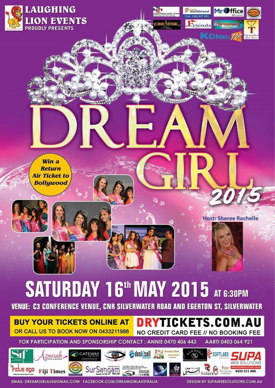 26 days left  Get your tickets to Australia's exclusive multicultural talent quest We have girls from  Pakistan, Bangladesh, Fiji, Vietnam, India, Uganda and Congo ...... Come and see their culture and talent Get your tickets at  http://goo.gl/m1dNmN Or write to us on dreamgirlaus@http://goo.gl/zVEZ
