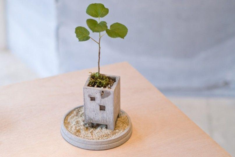 Vasos adoráveis para plantas inspirados no ambiente urbano de Nobuhiro Sato - Stuffhood