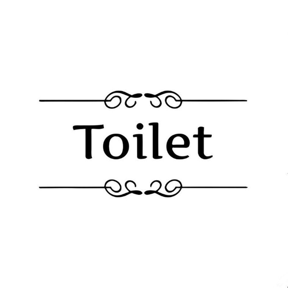 New removable wall vinyl art sticker bathroom toilet door sign decal
