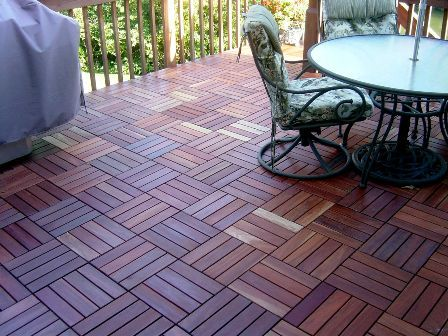 Delightful Redwood Deck Tiles