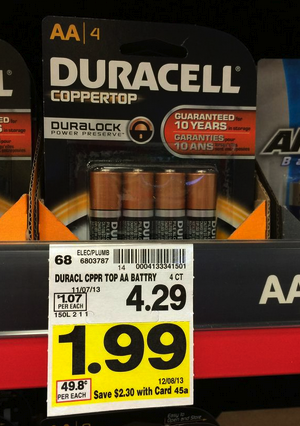 graphic regarding Duracell Battery Coupons Printable identified as Kroger: $0.99 Duracell Batteries! ~FREEbies Kroger krazy