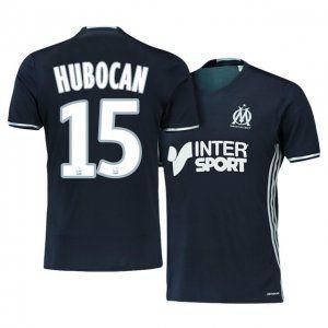 Marseille Away 16-17 Season Black #15 HUBOCAN Soccer Jersey [I134]