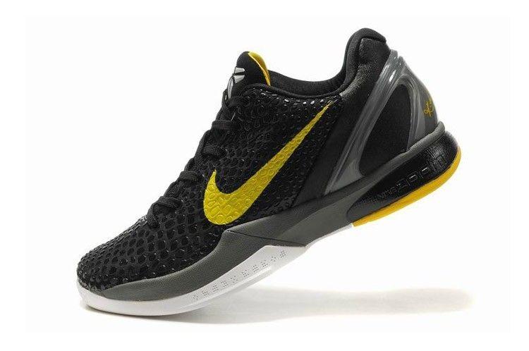 Nike Zoom Kobe VI Kids Basketball Shoes - Black Yellow  70 ... 0a7971b7436c