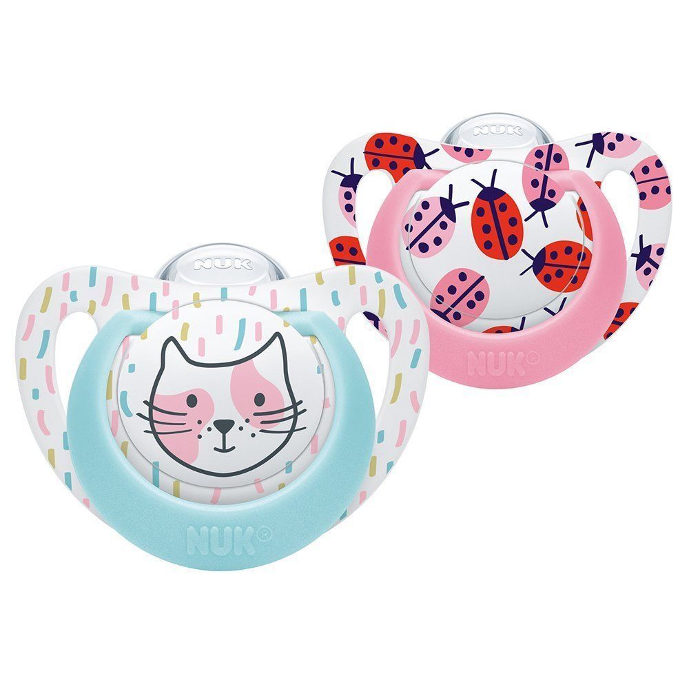 NUK Genius Silicone Soothers 2PK Pink
