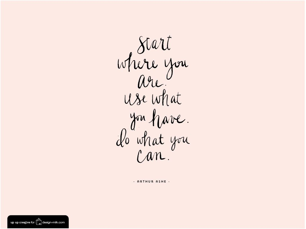 Arthur Ashe Quote Desktop And Iphone Ipad Wallpaper Design Milk Desktop Wallpaper Design Be Yourself Quotes Quotes