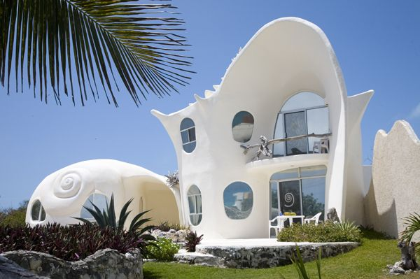 The Conch Shell House On The Island Of Isla Mujeres In Mexico - Conch-shell-house