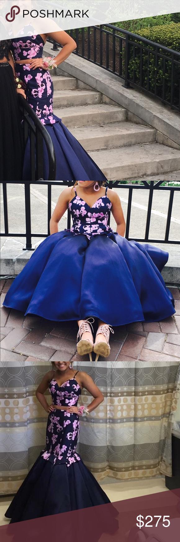 Gorgeous rachel alan prom dress rachel alan floral mermaid style