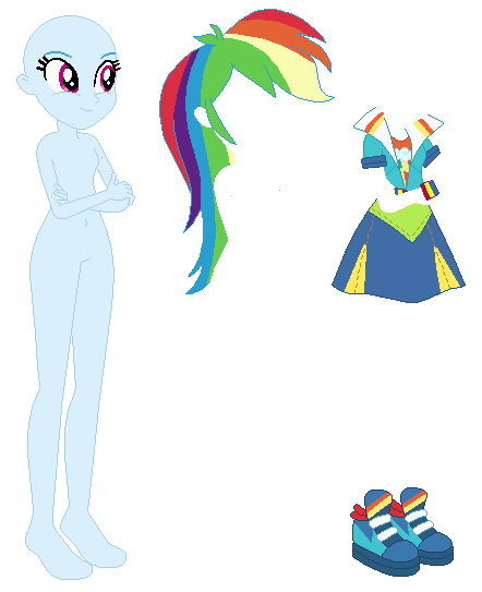 Equestria Girls Party Dress Rainbow Dash Base By Selenaede