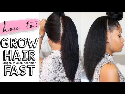 How To Grow Hair Long Thick Healthy Fast 4 Easy Steps Video Black Hair Information Grow Long Hair Grow Black Hair Long Hair Styles
