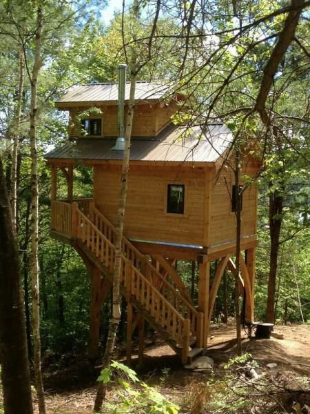 Awesome small house on stilts A Northwoods Cabin Pinterest